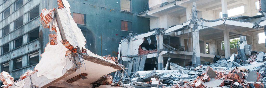 Foto de edificio derrumba
