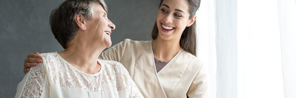 Senior adult with a female physiotherapist