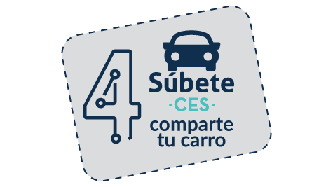 Paso 4 - Súbete al CES, comparte tu carro