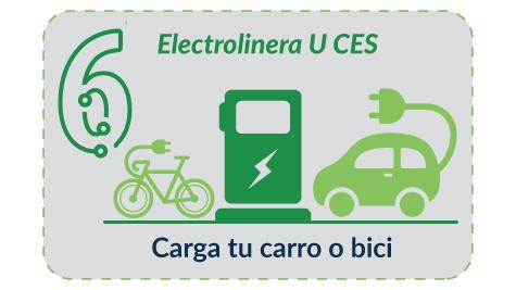 Paso 6 - Si tienes carro o bici eléctrica usa la electrolinera