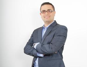 Foto David Vélez, estudiante de la maestría en tecnología de la información y comunicación en salud