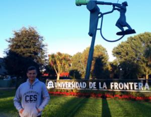 Foto de Samuel Jiménez, estudiante de X semestre de odontología