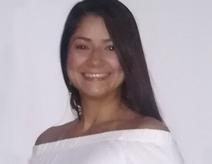 Photo Natalia Tabares Echeverri, graduated from the specialization in Physiotherapy in critical care of adults