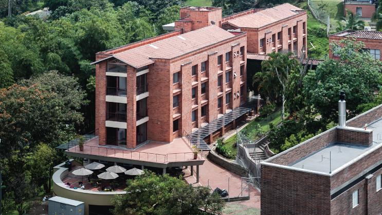 Foto aérea del Edificio A - Administrativo