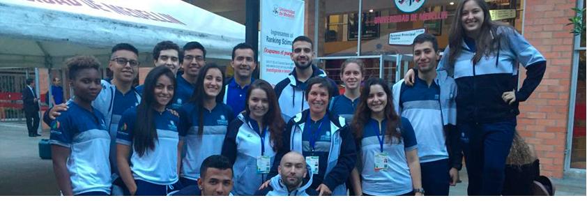 Foto jugadores de la Uniersidad CES que esperan el podio en los juegos ASCUN 2019