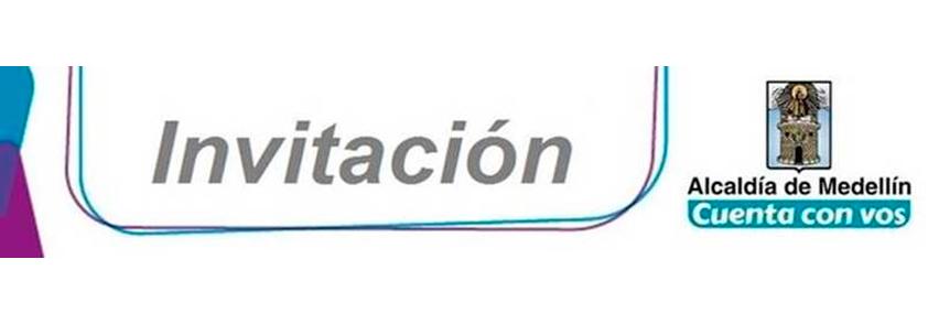 Logo of the invitation of the Mayor's Office of Medellín