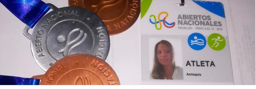 Fotografía de las medallas que ganó Luisa Fernanda Arias Rayo