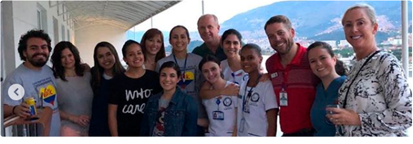 Photograph of the medical team