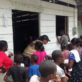 Fotografía de la brigada de salud en el Chocó