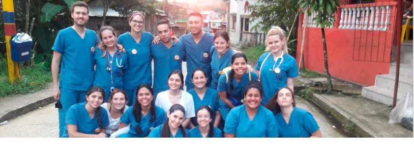 Fotografía de los estudiantes de la Universidad CES que asistieron a esta brigada de salud en el Chocó