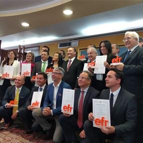 Fotografía de los representantes de las empresas EFR en Colombia