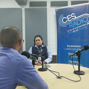 Photo of Witter Estrada in our CES radio booth
