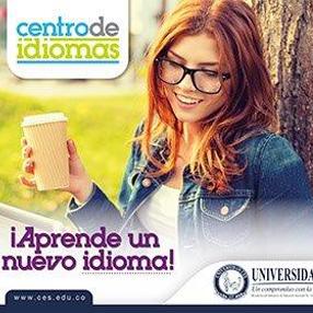 Pieza publicitaria del Centro de Idiomas de la Universidad CES