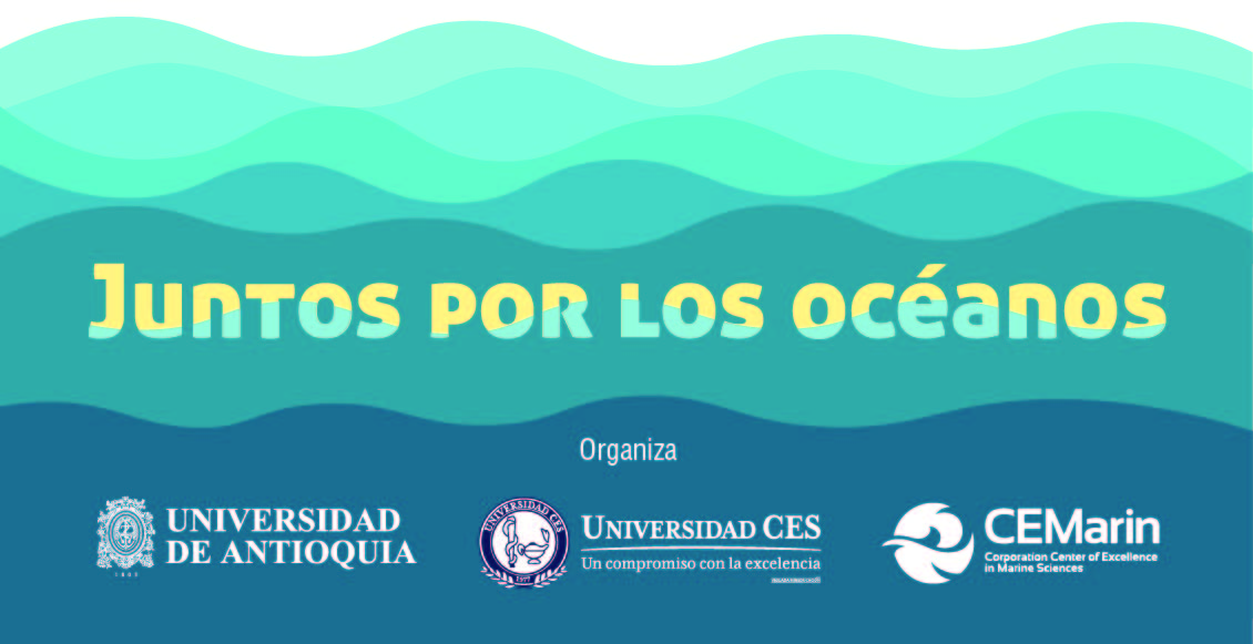 Logos of the University of Antioquia, CES University and CEMArin