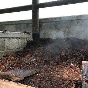 Fotografía del compostaje animal