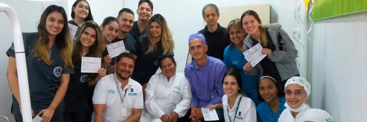 Fotografía de algunos integrantes del cuerpo médico de 'Ser Capaz en Casa'