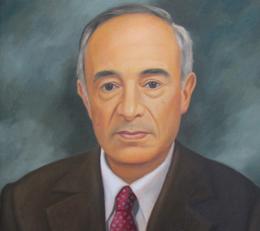 Pintura con el rostro del fundador Carlos Agudelo