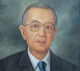 Pintura con el rostro del fundador Gonzalo Calle