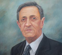 Pintura con el rostro del fundador Guillermo Cárdenas