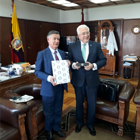 Rector of the CES University with another person