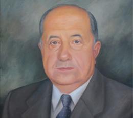 Pintura con el rostro del fundador Luis Carlos Muñoz