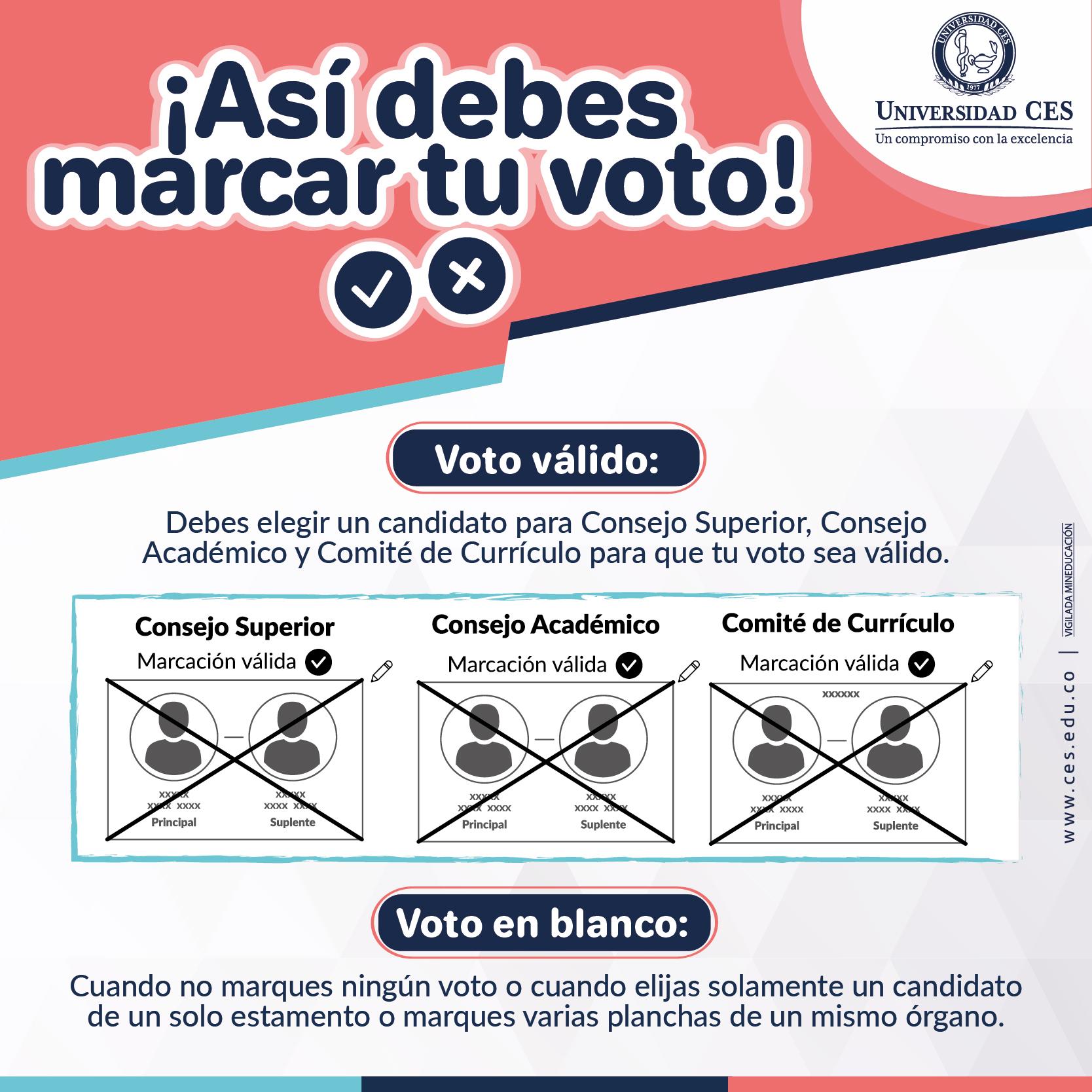 Image, así debes marcar tu voto - elecciones representantes estudiantiles 2020