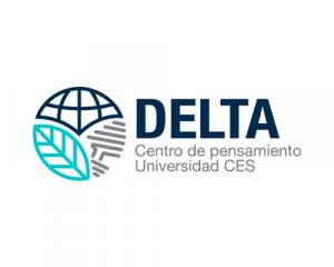 Logo del Centro de Pensamiento DELTA de la Universidad CES