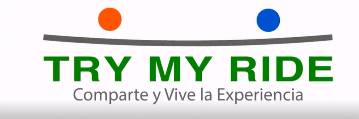 Logo de la aplicación de movilidad Try my ride