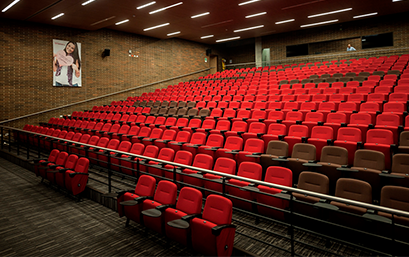 photo of the seating of the Guillermo Cárdenas Jaramillo theater