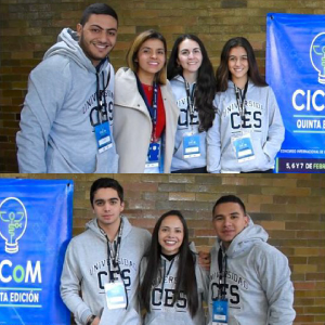 Medical students who participated in the CiCom contest in Mexico
