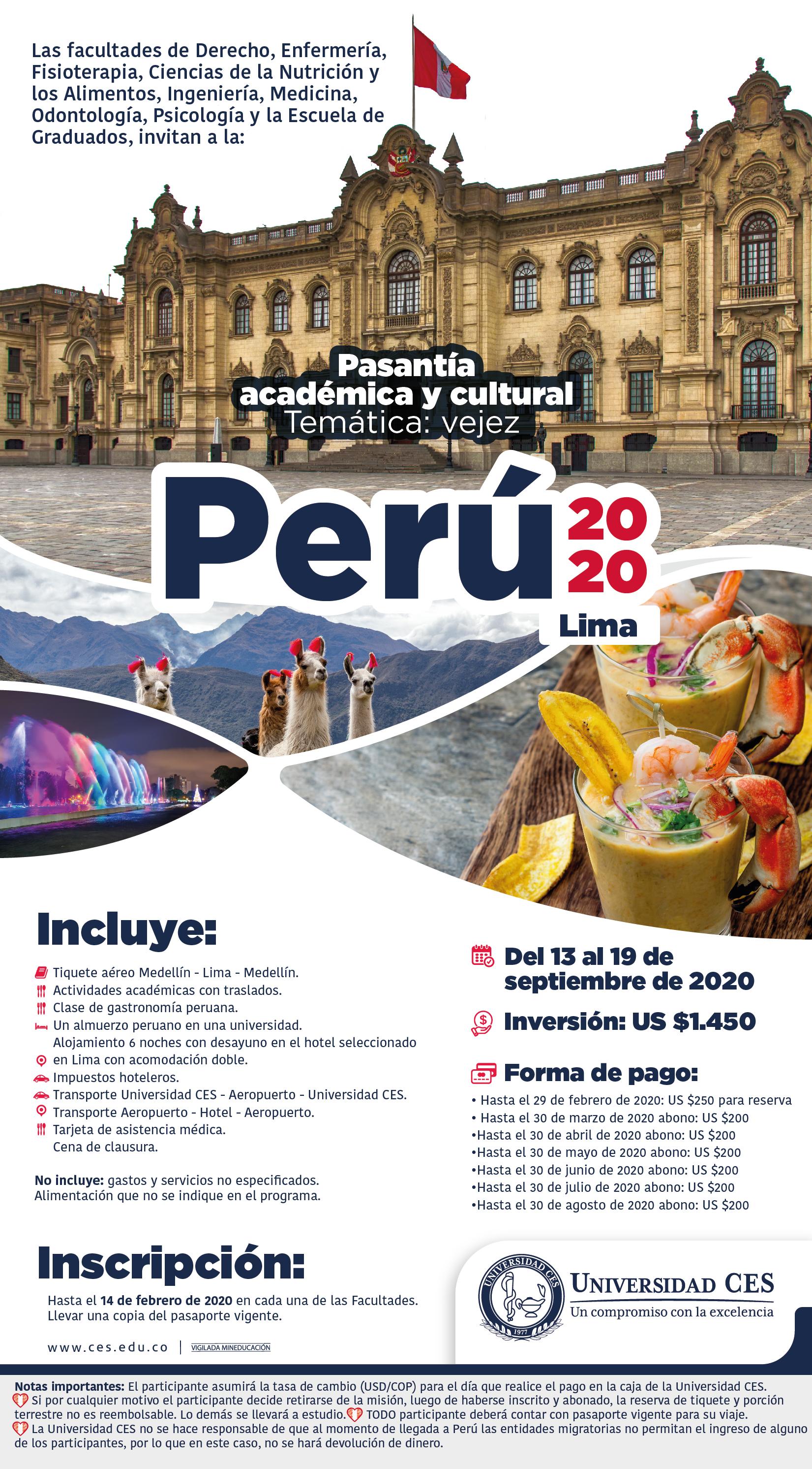 imagen publicitaria Misión Perú 2020