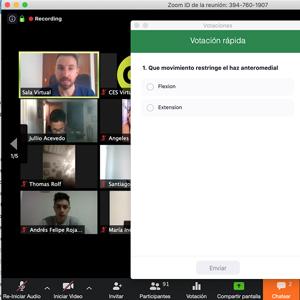 captura de pantalla de clase virtual dictada por zoom