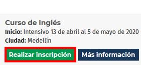 paso a paso inscripción idiomas - realizar inscripción