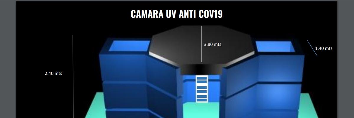 Captura de pantalla del prototipo de la cámara uv anti covid-19