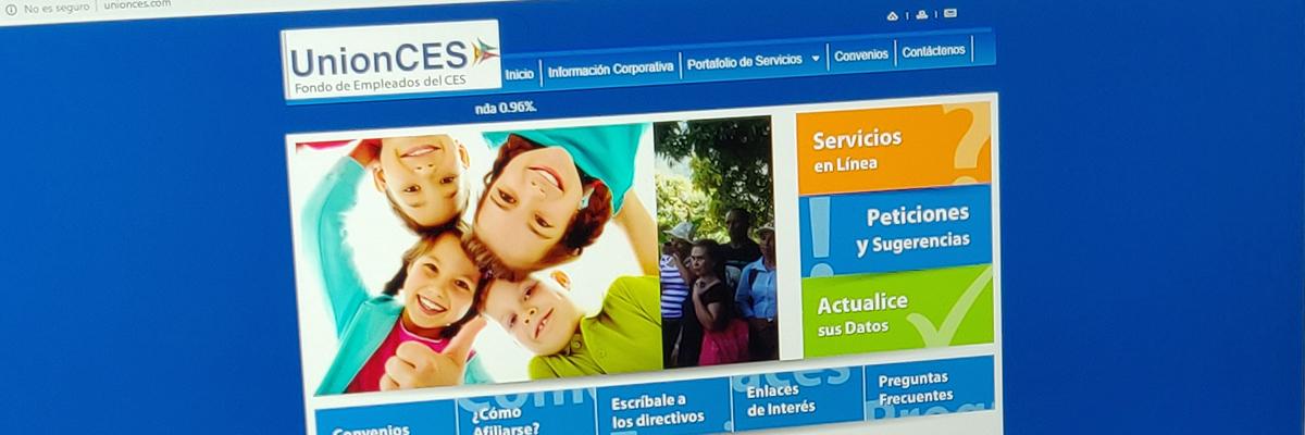 Captura de pantalla de la página web de fondo de empleados del CES - Unión CES