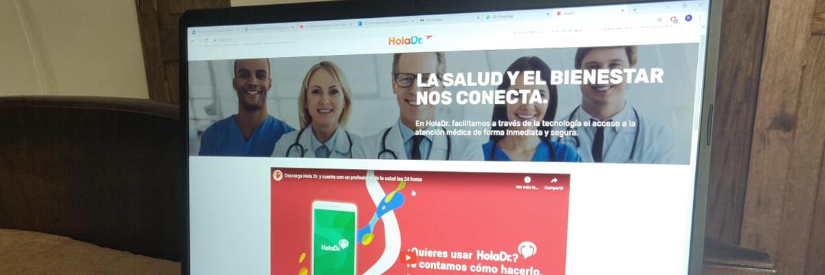 Captura de pantalla de la página web de Hola Dr.