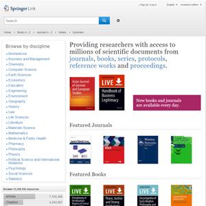 Captura de pantalla de la página springerlink