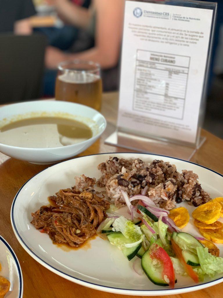Fotografía de plato menú Cuba del restaurante N Cocina y Nutrición