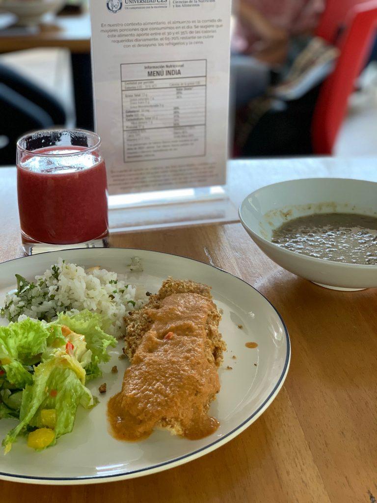 Fotografía de plato menú India del restaurante N Cocina y Nutrición