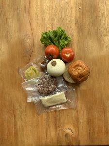 Fotografía de menú Hamburguesa empacado al vacío