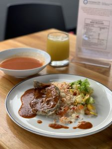 Photograph of Mexico menu plate of the restaurant N Cocina y Nutrición