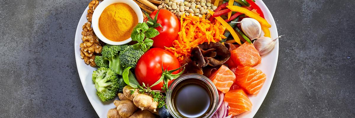 Foto de plato de comida saludable