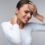 picture of woman with pain in head and neck