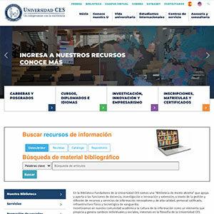 screenshot de la pagina principal de la biblioteca
