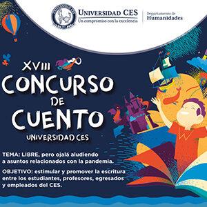 anuncio sobre el concurso de cuento de la universidad CES