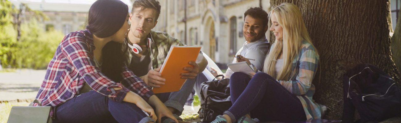 imagen de un grupo de personas estudiando